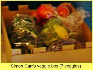 Simon Carr's veggie bo