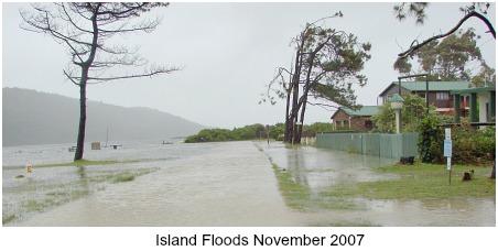 Island flooding 2007