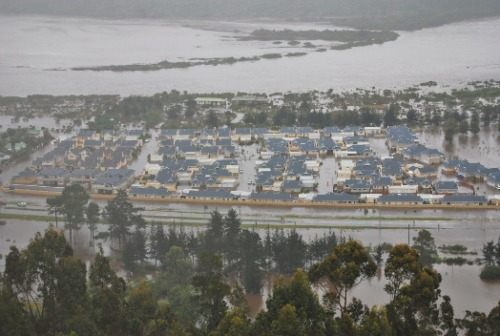 Montage Village in Sedgefield flooded