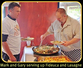 Mark & Gary serving the main course