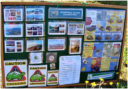 Conservancy stickers and pamphlets