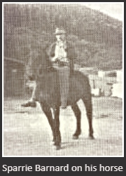 Sparrie Barnard on his horse