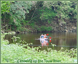 canoeing the Touw River