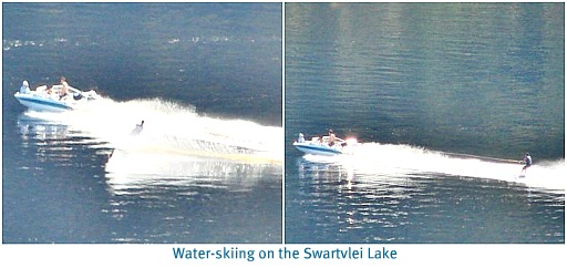 Waterskiing on Swartvlei Lake