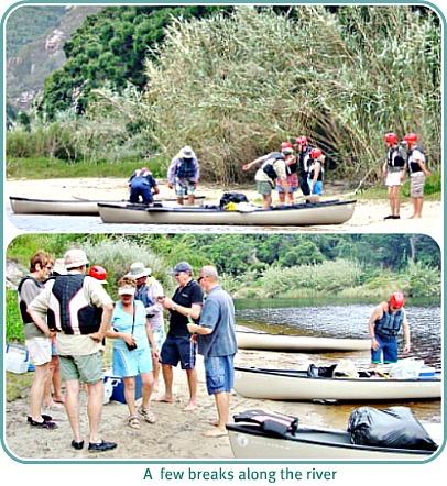 paddle breaks along Keurbooms River