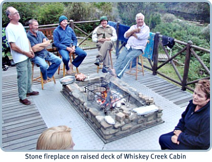 Stone fire-place