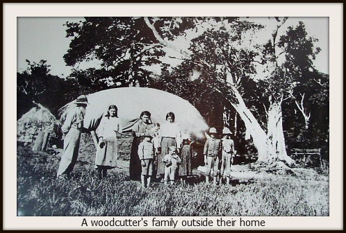 A woodcutter's large famil