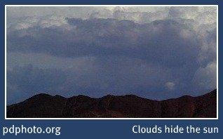 Clouds hide the sun