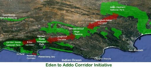 Eden to Addo map