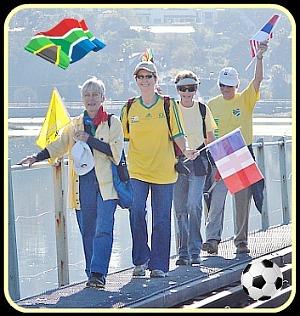 Sedgefield Walkie Talkies Worldcup Soccer walk
