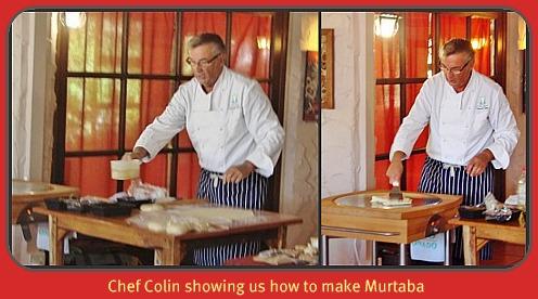 Chef Colin making Maturba