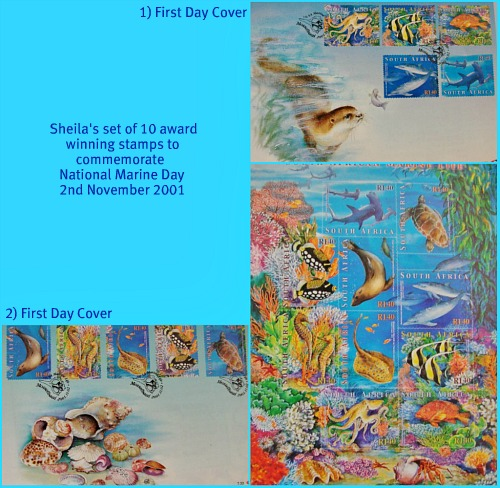 Sheila's Marine Day stamps