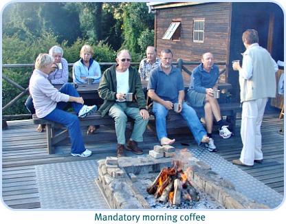 Morning coffee at Whiskey Creek