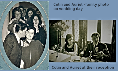 Colin and Auriel's wedding day