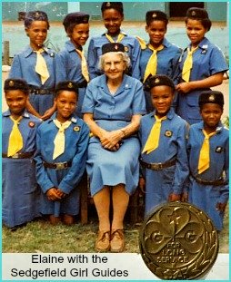 Sedgefield Girl Guides with Elaine Watney