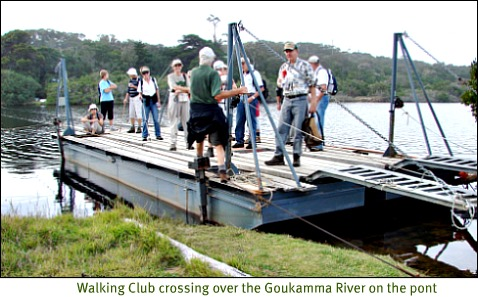 pont crossing to the Goukamma Reserve