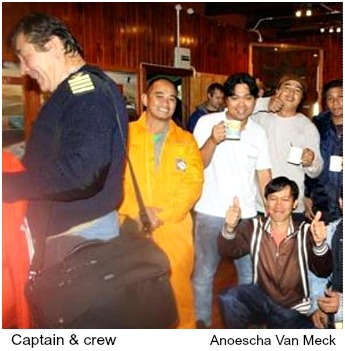 Captain and crew of Kiani Satu