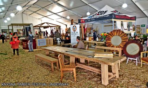 Indoor displays at he Knysna Timber Festival