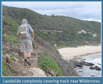 Landslide over line near Wilderness