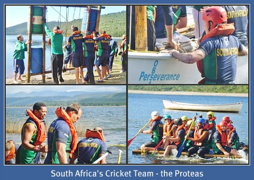 The Proteas SA'S cricket team challenge