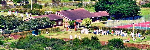 View of Sedgefield Bowling Club from Cloud 9