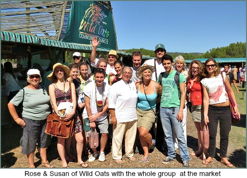 Rose Bilbrough, Susan Garner, Colin Capon with Gastronomic Studens at Wild Oats Market