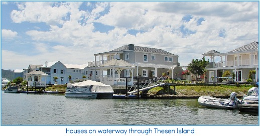 Homes along the waterways