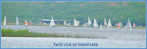 Yacht Club sailing on Island Lake